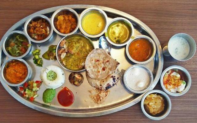 a complete rajasthani thali